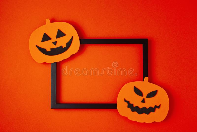 Top view of Halloween decoration with plastic bats. Party, invitation, halloween decoration. Top view of Halloween decoration. Party, invitation, halloween stock photos