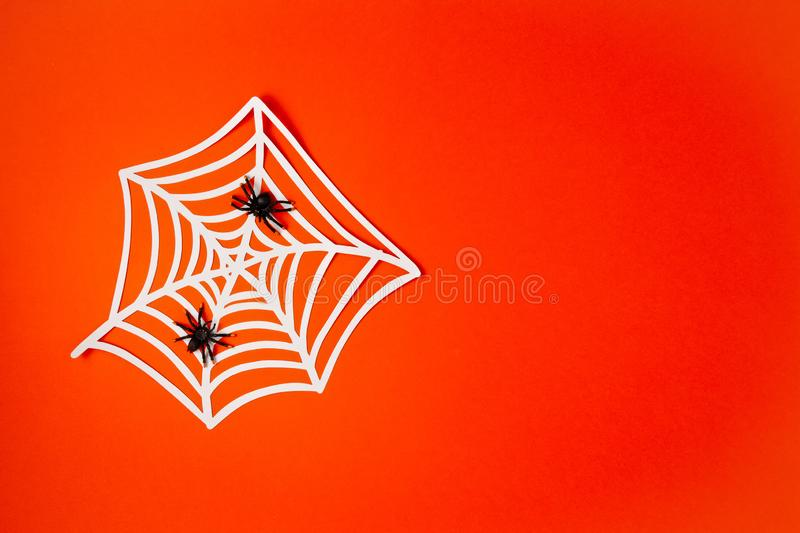 Top view of Halloween decoration with plastic bats. Party, invitation, halloween decoration. Top view of Halloween decoration. Party, invitation, halloween royalty free stock images