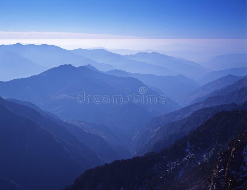 Top view of Hinku Valley. royalty free stock photos