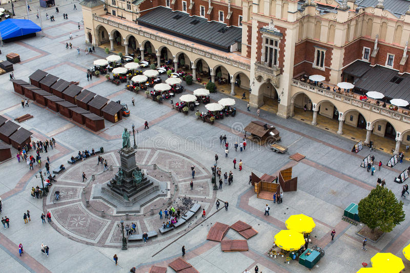 Top view of a historic buildings in the Old Sity. stock photo
