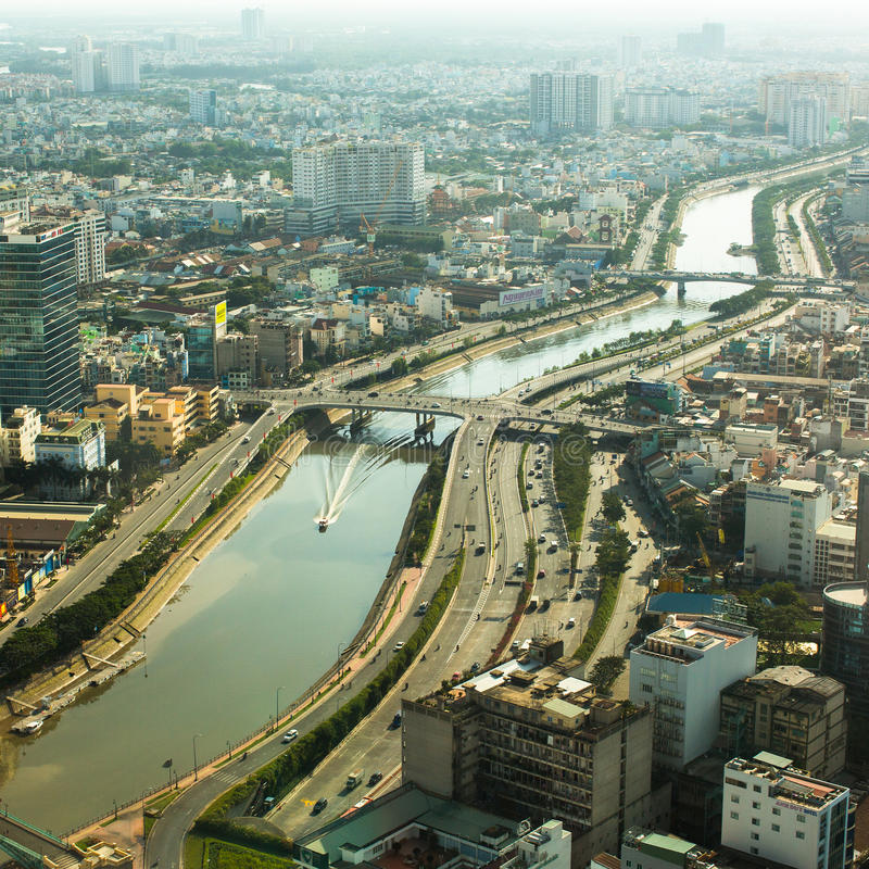 Top view of Ho Chi Minh City. stock photography