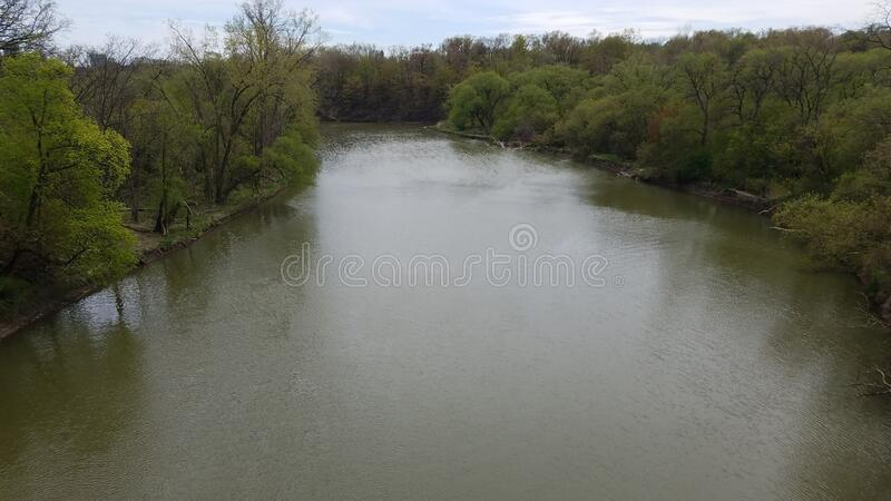 Aerial view of Humber river stock images