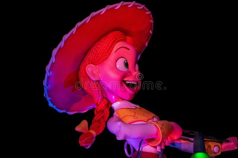 Top view of Jessie in Toy Story Land at Hollywood Studios 159 royalty free stock image
