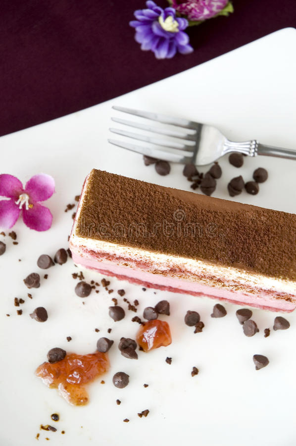Top view of layer cake. Top view of berries layer cake royalty free stock photography