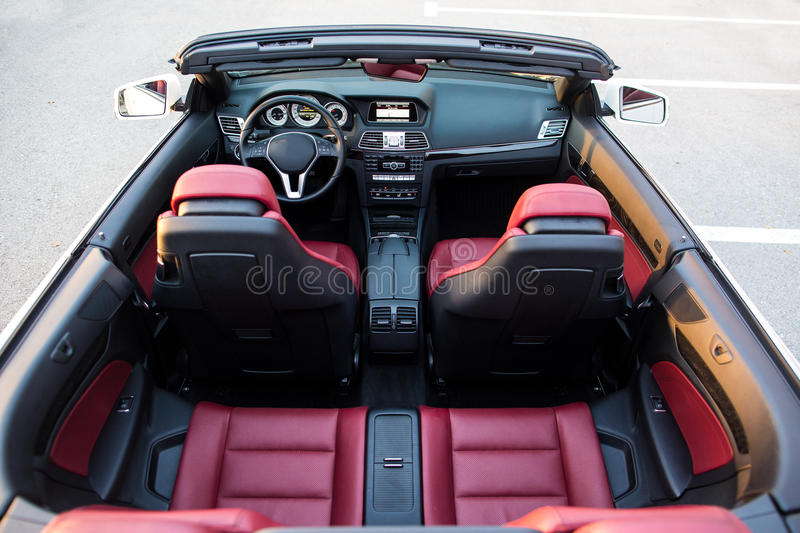 Top view of luxury cabriolet car stock photo