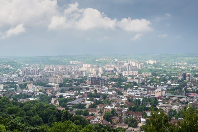 Top view in Lviv, Ukraine stock photography