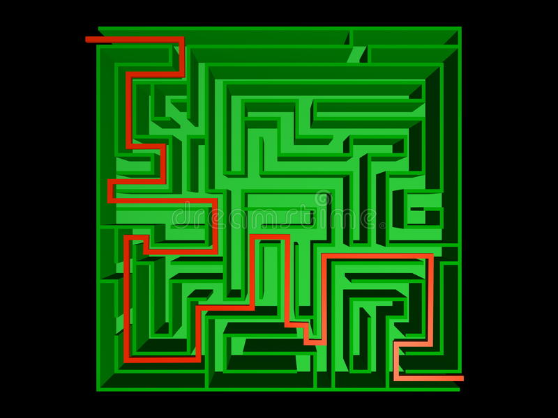 Download Top view of the maze stock illustration. Image of myth - 18271752