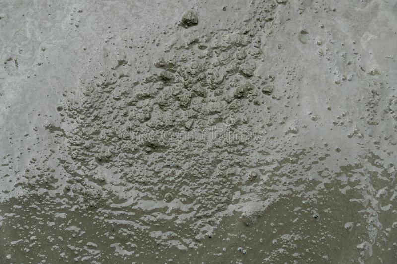 Top view of Mixed cement prepared for use. Background and texture top view of Mixed cement prepared for use stock image