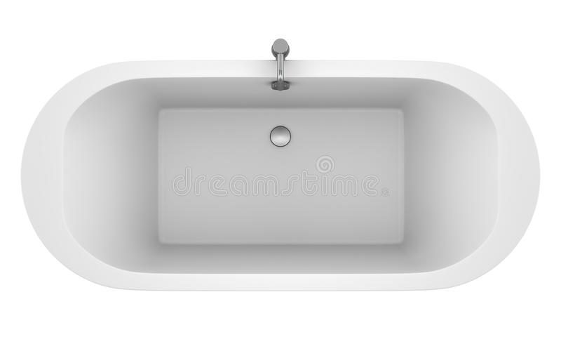 Download Top View Of Modern Bathtub Isolated On White Stock Illustration - Image: 26728403