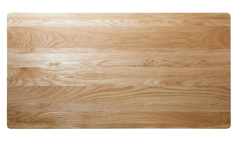 top view of oak wood table stock image