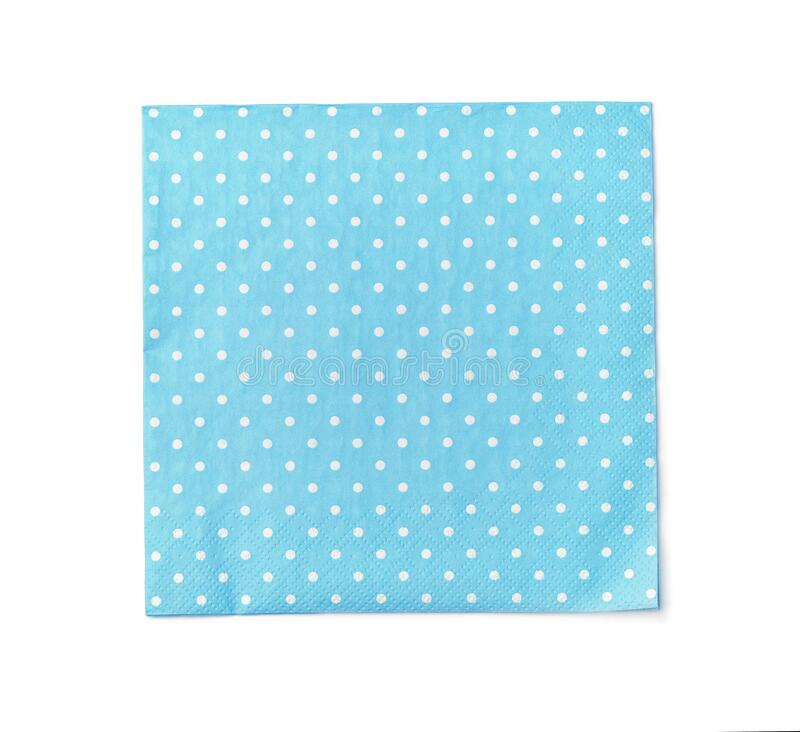 Free Top View Of Blue Dot Paper Napkin Royalty Free Stock Images - 198444789