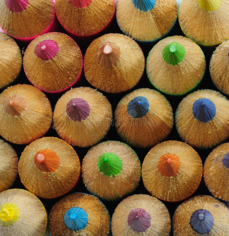 Free Top View Of Color Pencils Stock Photo - 14397010