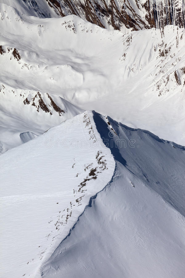 Download Top View On Off-piste Slope Stock Photo - Image: 32010538