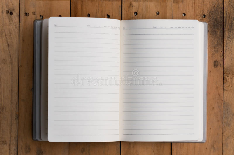 Top view of open note book royalty free stock images