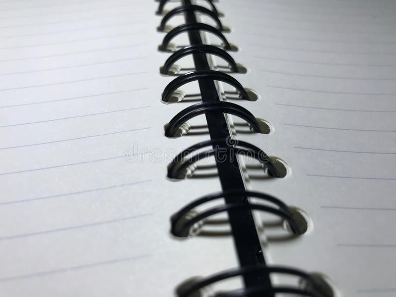 Top view of open spiral blank notebook royalty free stock photos