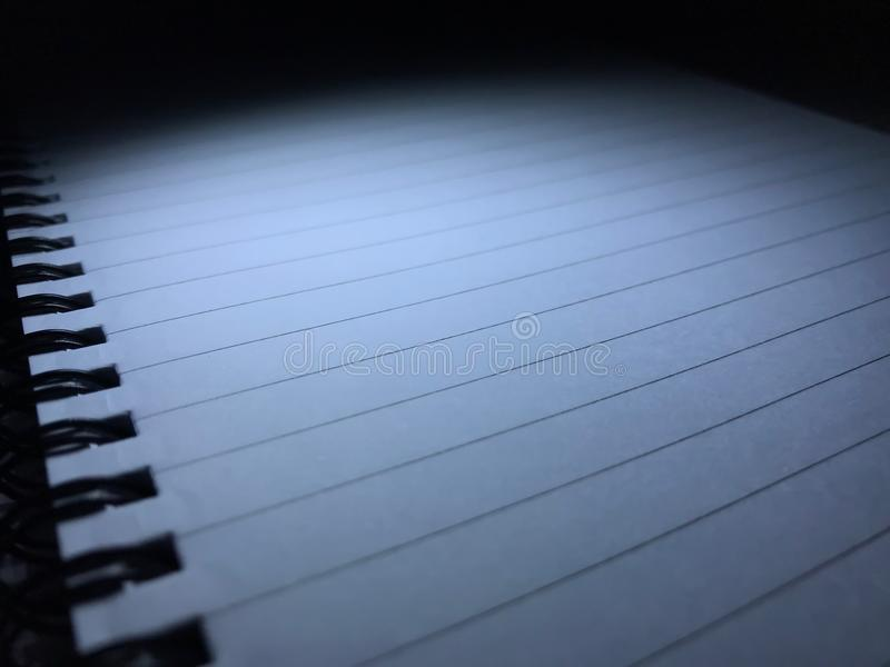Top view of open spiral blank notebook royalty free stock images