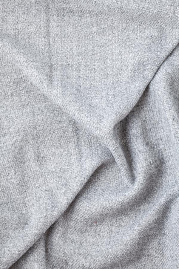 Top view over soft woolen grey textil texture royalty free stock photos