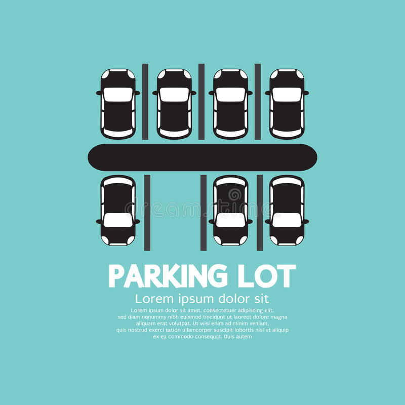 Top View Of Parking Lot stock illustration