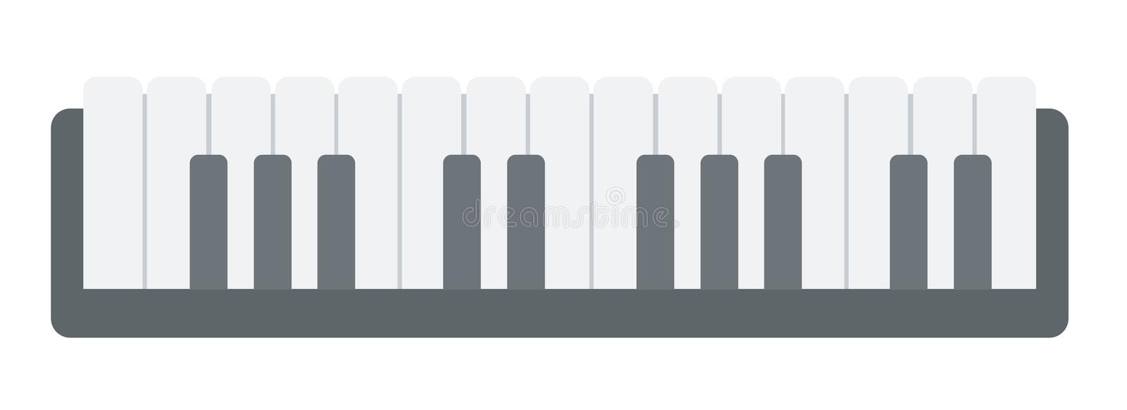 Top view of piano keyboard vector illustration