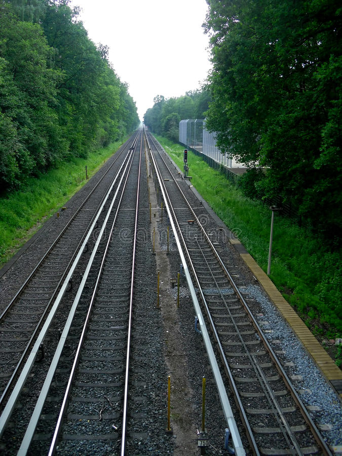 Download The Top View On Railway Tracks Stock Image - Image: 20987243