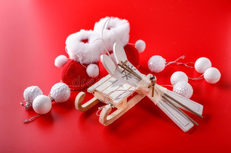 Christmas decorations for Christmas holiday royalty free stock image