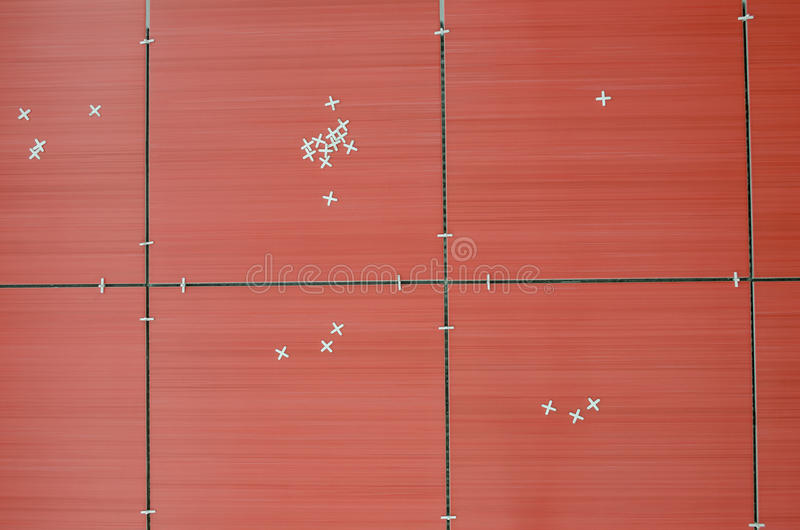 Download Top view of red tiles stock photo. Image of lines, renovation - 28274916