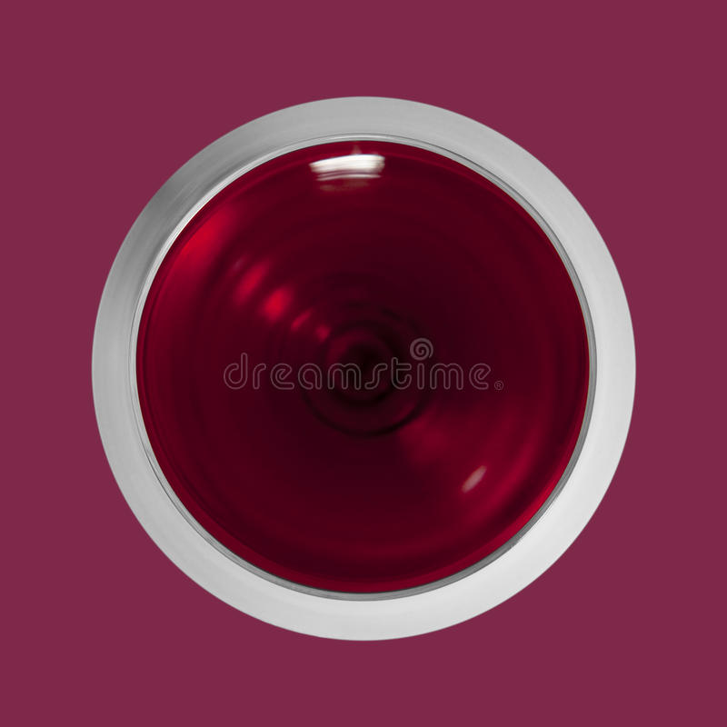 Download Top view red wine glass stock image. Image of pleasure - 14348101