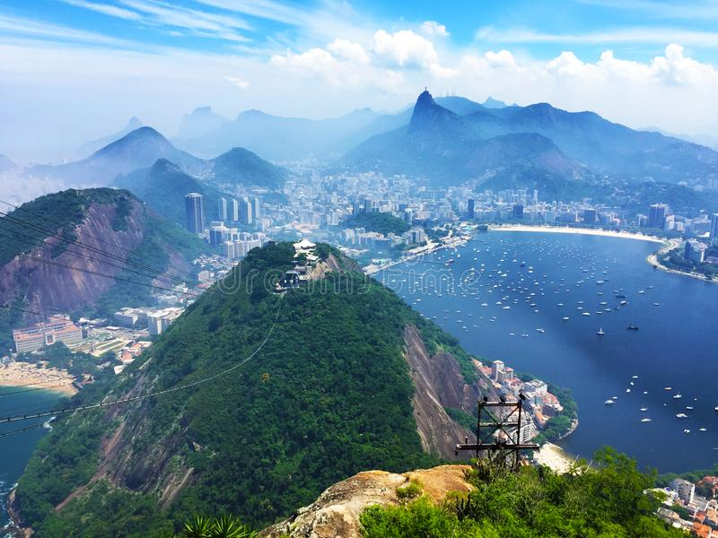 Top view of Rio de Janeiro, Brazil royalty free stock photo