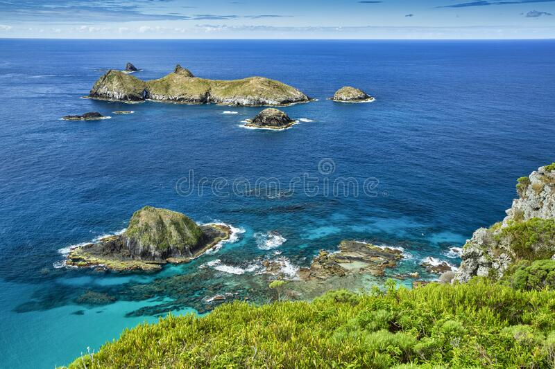 Top view of Roach and the Admiralty Islands, Lord Howe Island, the tasman sea, Australia. Top view of Roach Island and the Admiralty Islands, with beautiful royalty free stock photo