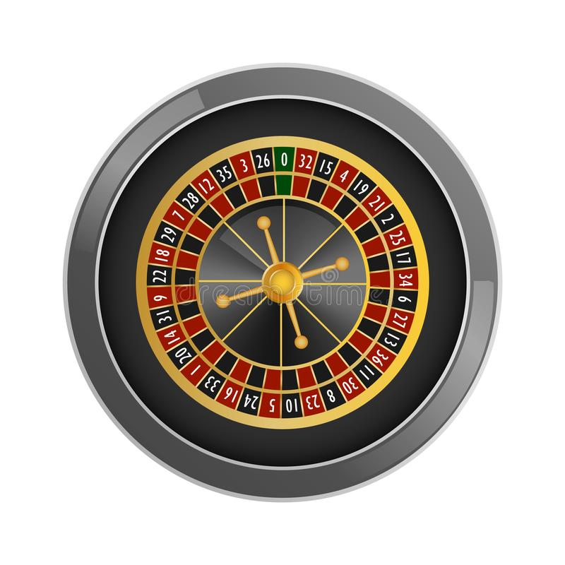 Top view roulette casino mockup, realistic style royalty free illustration