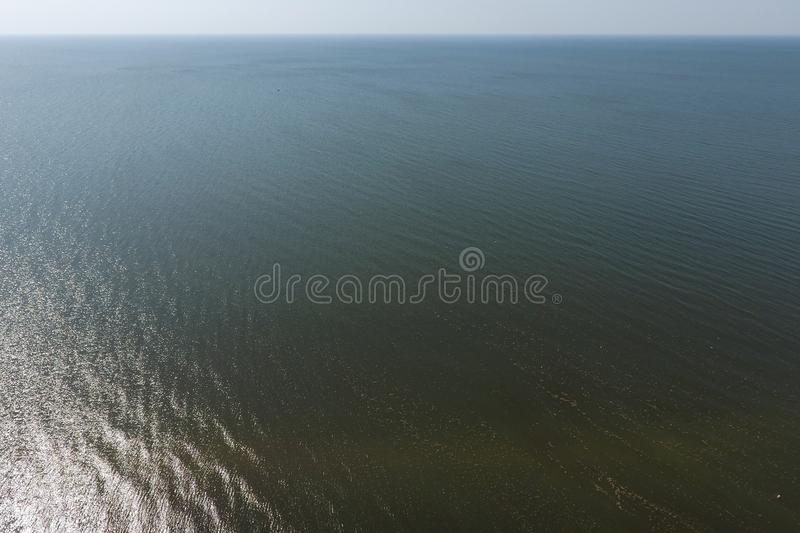 Top view of the Sea of Azov. Seaside Resort royalty free stock photography