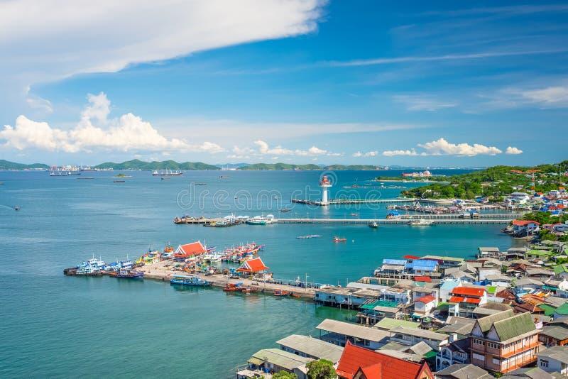 Top view of Sichang island, Pattaya, Chonburi province, Thailand. Asia stock photo