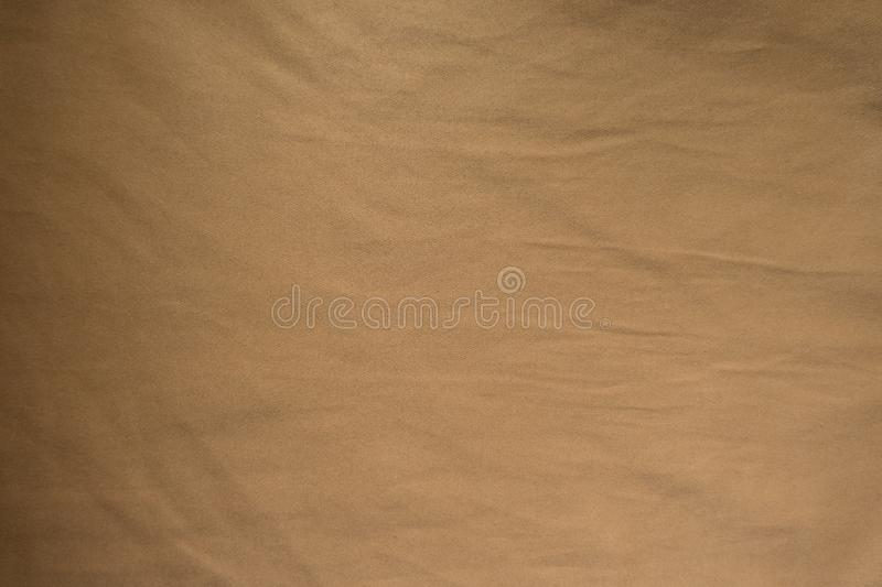 Top view of fulvous brown fabric royalty free stock photos
