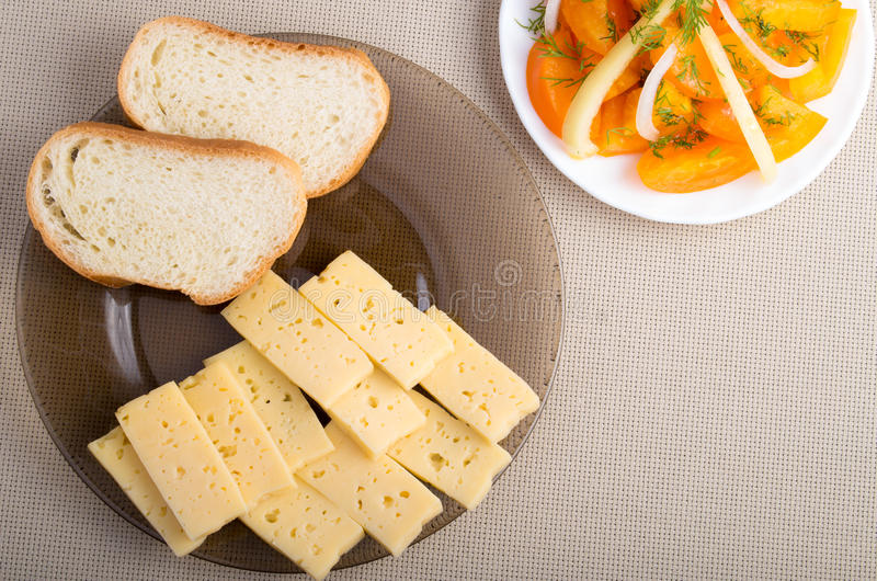 Top view of a snack for veggie stock image