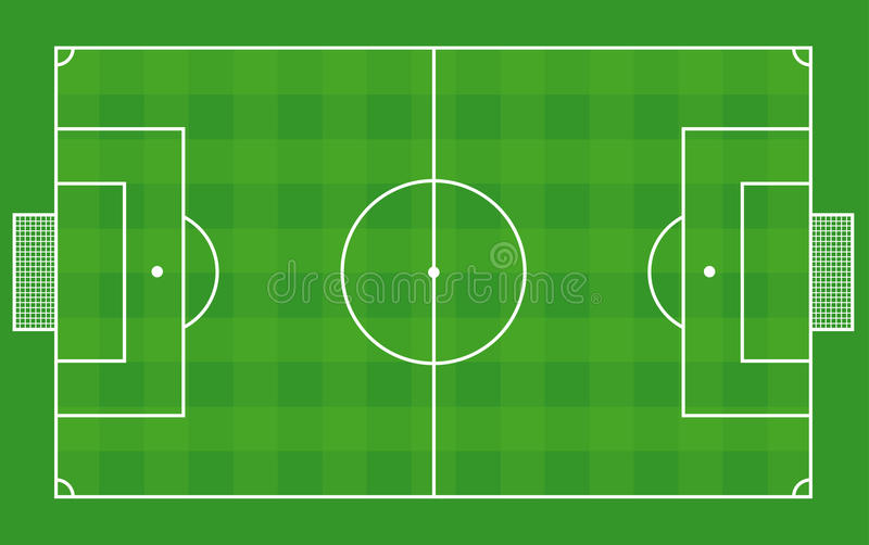 Top View Of Soccer Field Or Football Field -Vector Stock