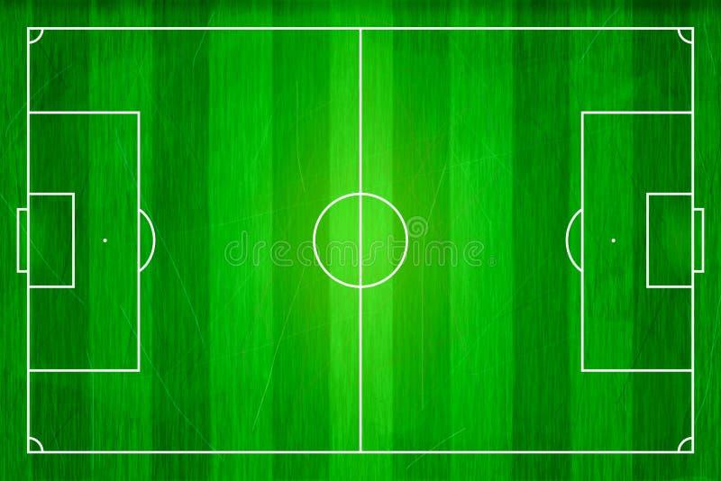 top view of soccer field  football stadium  stock illustration