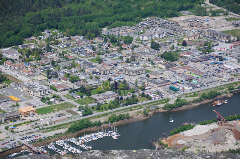 Top view of squamish town royalty free stock images