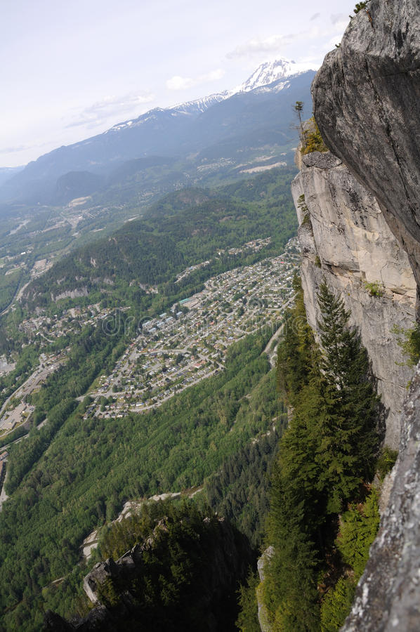 Top view of squamish town stock image