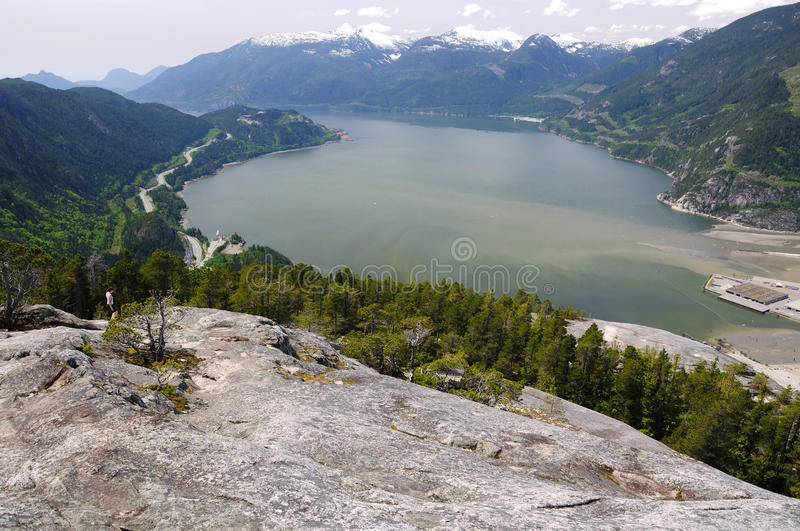 Top view from the stawamus chief stock images