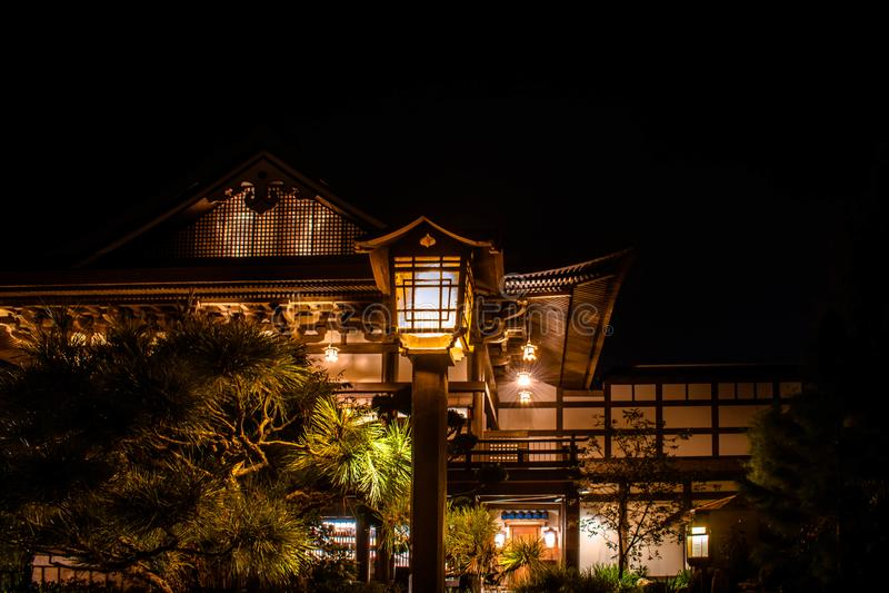 Top view of streetlight in Japan Pavillon bei Epcot 27 stockbild