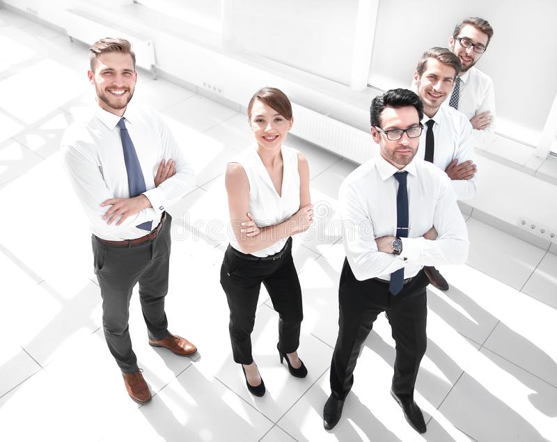 Top view.successful business team in office royalty free stock images