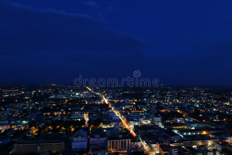 Top view Sunset time in Khonkaen, Thailand 20/10/2016. Top view Sunset time in Khonkaen, Thailand. 20-10-2016 royalty free stock photography