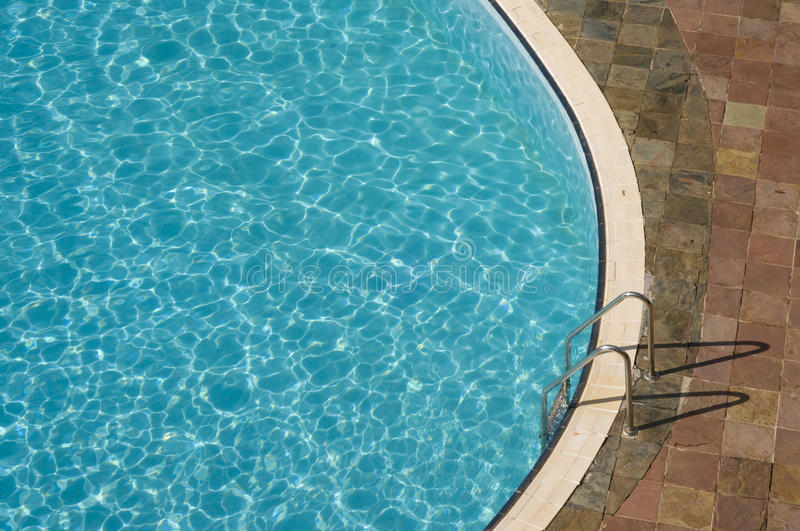 Top view of a swimming pool royalty free stock photography