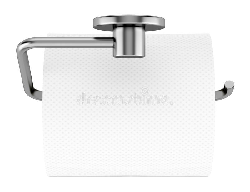Download Top View Of Toilet Paper On Holder Isolated On White Royalty Free  Stock Photo. Top View Of Toilet Paper On Holder Isolated On White Royalty Free