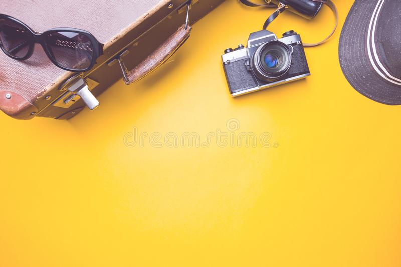 Top view travel concept royalty free stock photos
