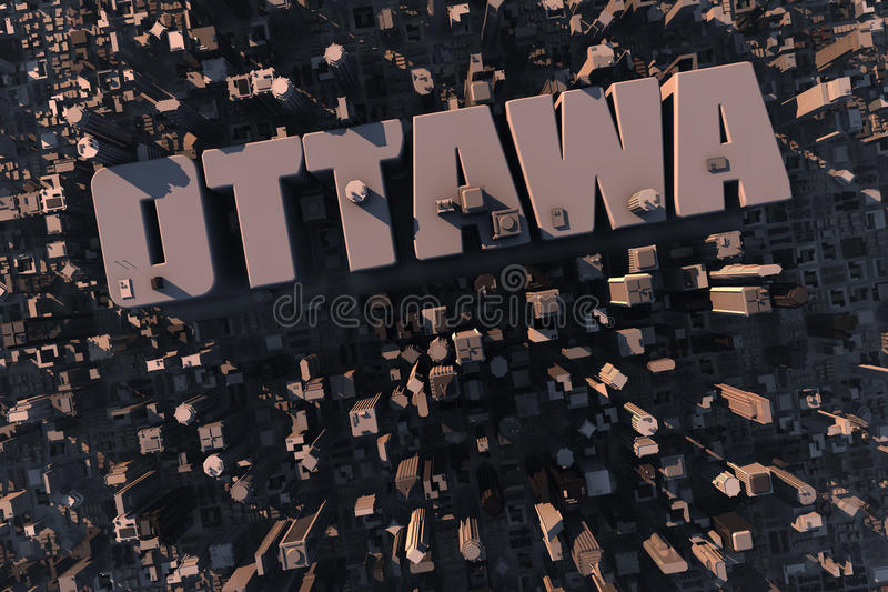 Top view of urban 3D city with name stock illustration