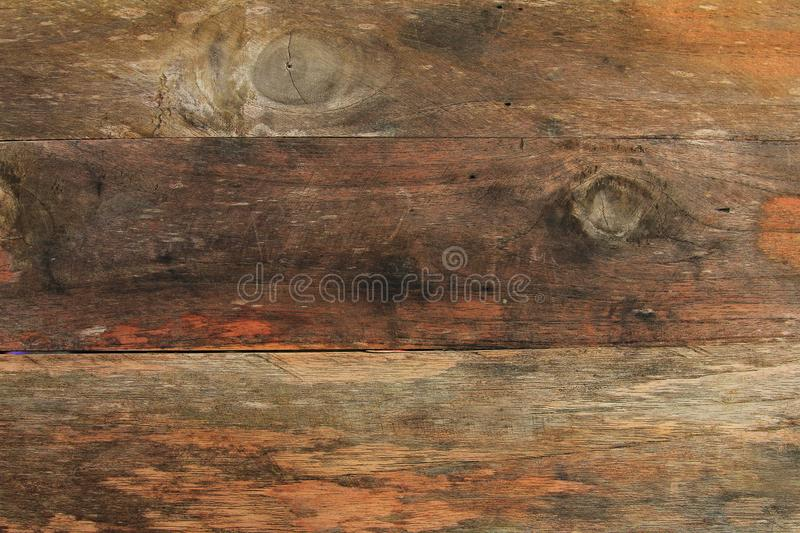 Top view vintage wood board,close up old wood pattern and texture background royalty free illustration