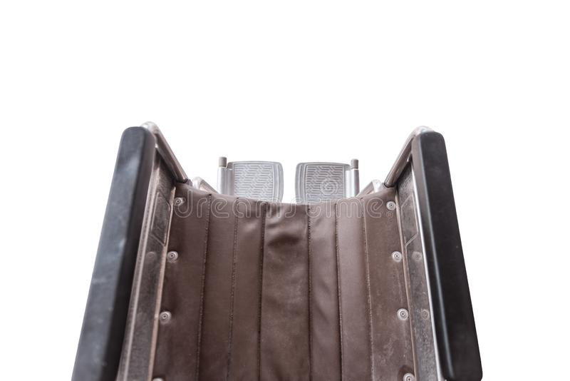 Top view of Wheel chair seat with Footrest stock images