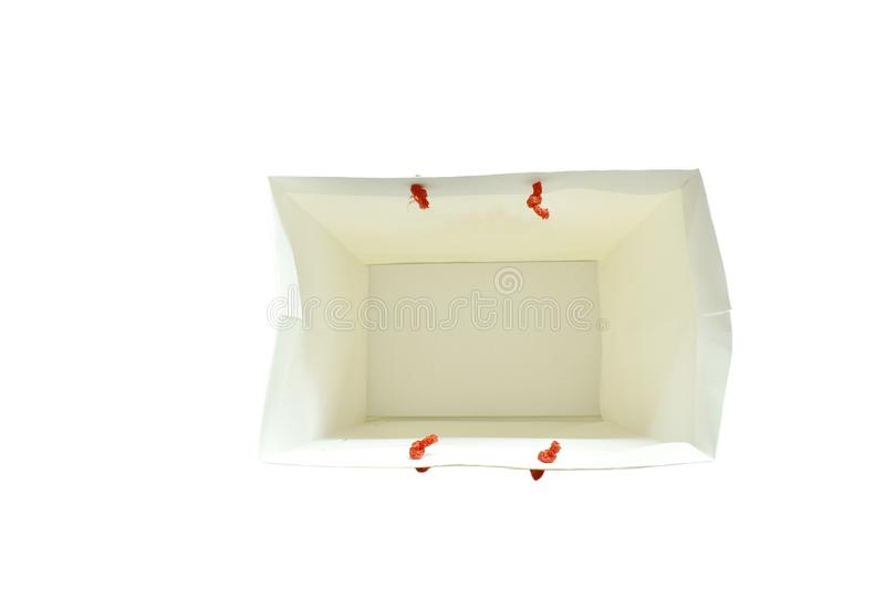 white glossy coated paper bag stock photo