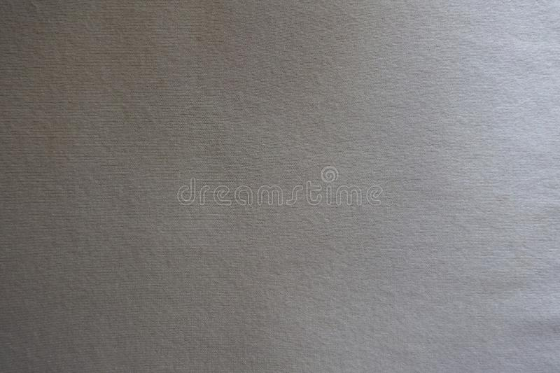 Top view of white jersey woolen fabric stock image